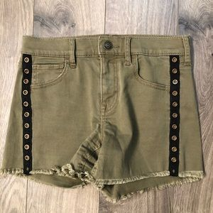 Express Olive Mid Rise Shorts